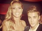 Heidi Klum tieta Justin Bieber em Cannes