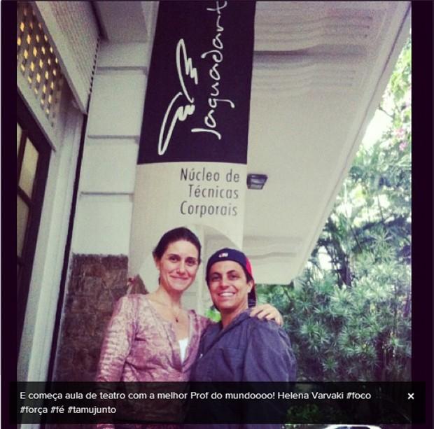 Helena Varvaki e Thammy Miranda (Foto: Instagram / Reprodução)