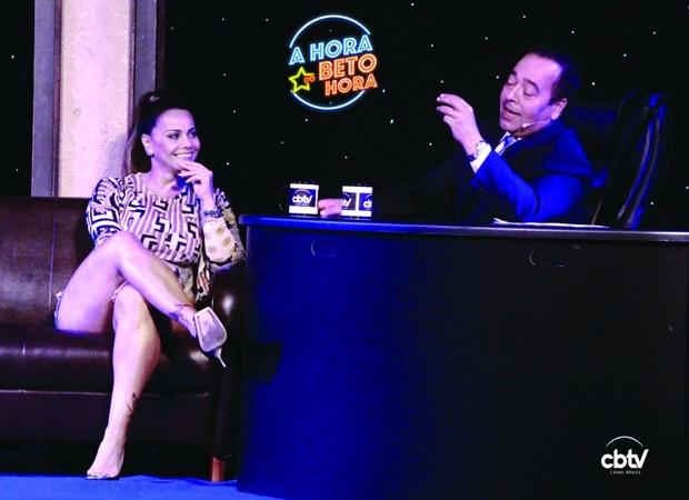 Viviane Araújo e Beto Hora (Foto: Luciane Duque)