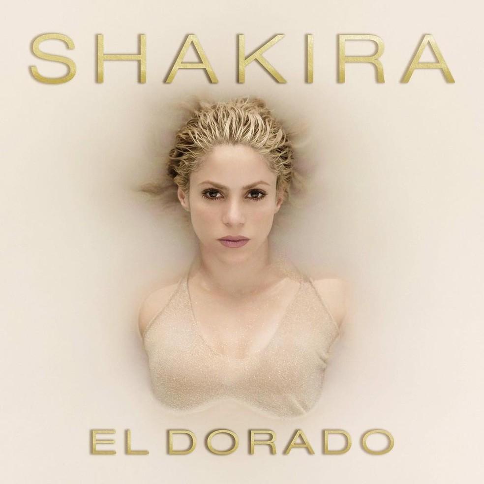 Shakira mostra capa de CD (Foto: Reprodução)