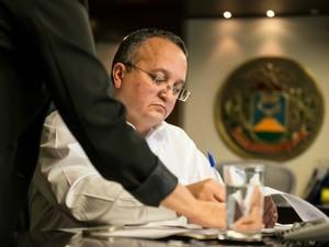 Governador Pedro Taques (PDT) vetou dois projetos de lei aprovados pela AL em dezembro. (Foto: José Medeiros / Secom-MT)