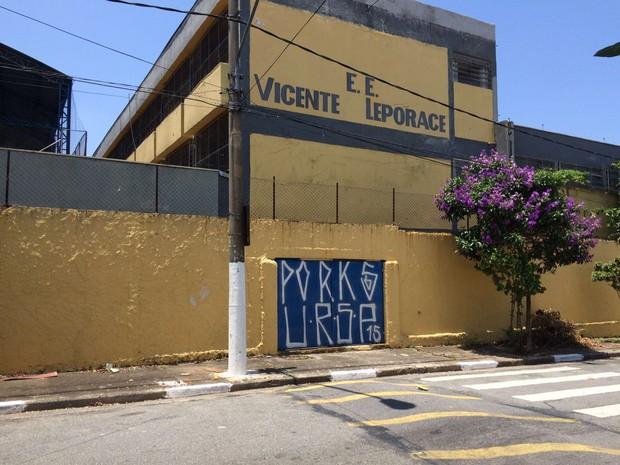 Escola Vicente Leporace (Foto: Márcio Pinho/ G1)