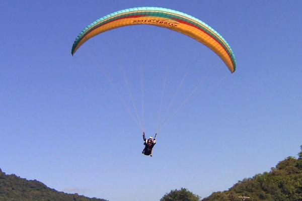 Teledomingo mostra voo de paraglider com deficientes visuais (Foto: Reprodução/RBS TV)