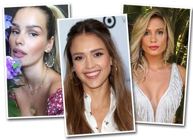 Yasmin Brunet, Jessica Alba e Luisa Mell (Foto: Getty Images/ Reprodução/ Instagram)