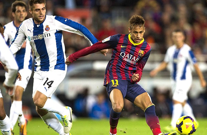 Neymar Barcelona e Espanyol (Foto: Agência EFE)