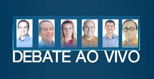 Candidatos a prefeito de Fortaleza se reúnem em debate. (Foto: TV Verdes Mares)