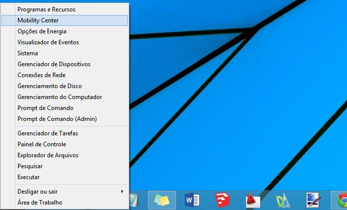 Menu do Windows 8 (Foto: Reprodução/Helito Bijora)