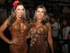 Tati Minerato e Ana Paula Minerato arrasam com vestidos decotados