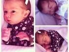 Debby Lagranha registra pela primeira vez os olhinhos abertos da filha