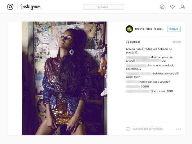 66bbae0160d Ensaio fotográfico feito no brechó foi divulgado nas redes sociais para  apresentar a marca aos clientes