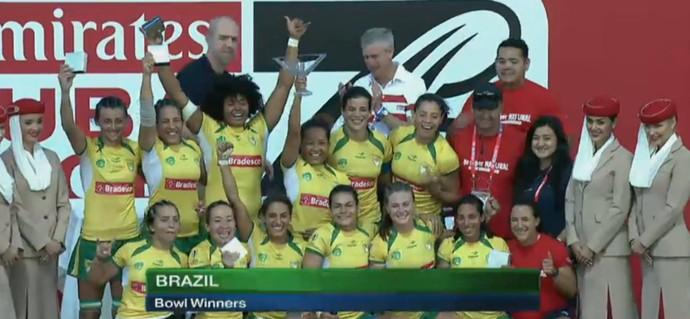 Brasil feminino Sevens rugbi dubai (Foto: Reprodução/Facebook)