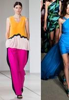 Do laranja ao verde-limão: cores vibrantes tomam conta dos desfiles na semana de moda de Londres