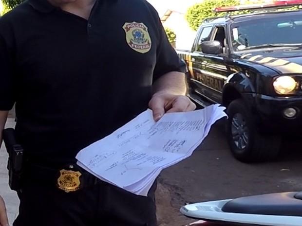 Lista com nomes foi apreendida pela polícia (Foto: Divulgação/Polícia Federal)