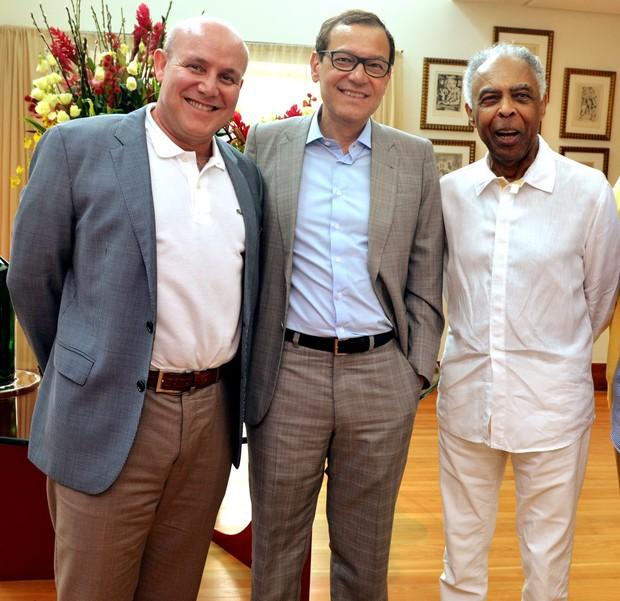 Paulo Muller , Paulo Niemayer e Gilberto Gil (Foto: Cristina Granato)