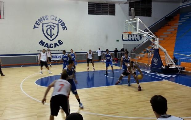 flamengo x macaé basquete  (Foto: Marcello Pires)