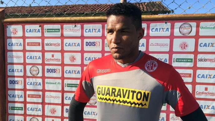 Pantera - goleiro do América-RN (Foto: Carlos Cruz/GloboEsporte.com)