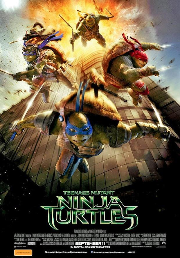 Pôster de 'Tartarugas ninja', que estreia em 11 de setembro na Austrália, tirado do ar pelo estúdio Paramount (Foto: Divulgação)