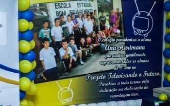 Escolas homenagearam os alunos vencedores. (Foto: Divulgação/RPCTV)