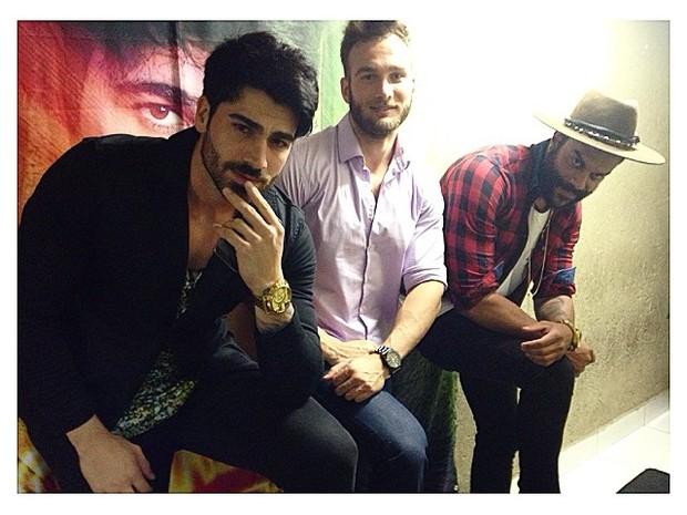 Ex-BBBs Rodrigão, Wesley e Alan em Contagem, Minas Gerais (Foto: Instagram/ Reprodução)