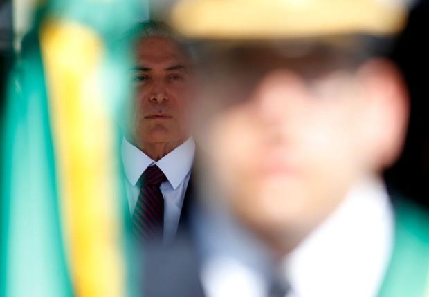 Michel Temer em cerimônia Brasília (Foto: Igo Estrela/Getty Images)
