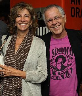 Marília Pêra e Nelson Motta - produtor lamentou a morte da ex-mulher (Foto: Anderson Borde/Agnews)