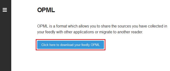 Iniciando a exportação do arquivo OPML (Foto: Reprodução/Edivaldo Brito)