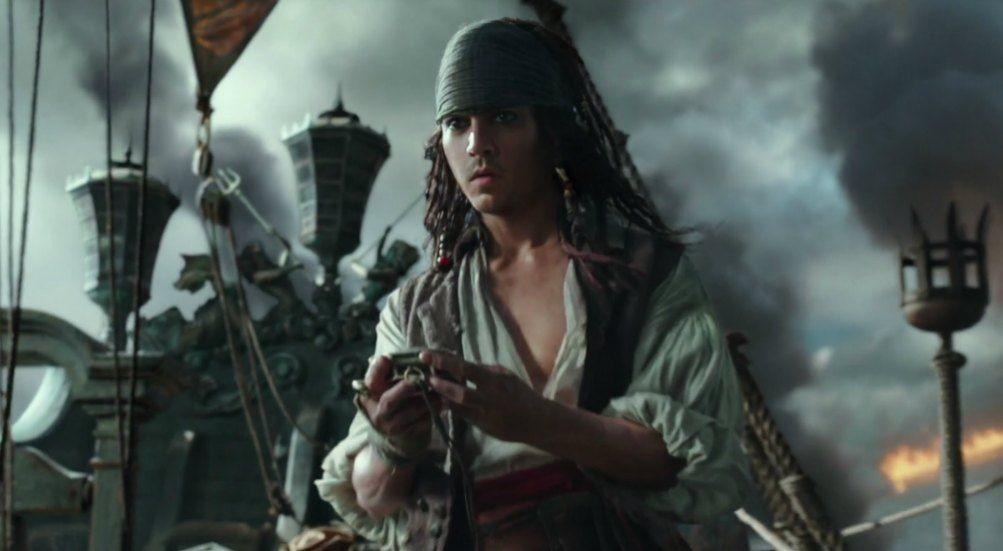 O personagem Jack Sparrow no no 'Piratas do Caribe' (Foto: Divulgação)