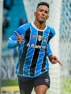 Lucas Barrios Grêmio Fluminense Copa do Brasil oitavas de final Arena ida (Foto: Lucas Uebel / Grêmio FBPA)