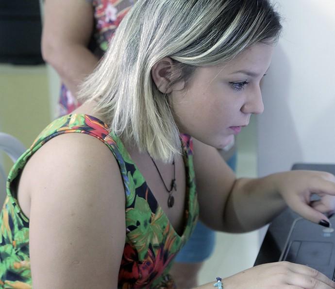 Maria Claudia já vendeu doce na faculdade  (Foto: João Mello/Gshow)