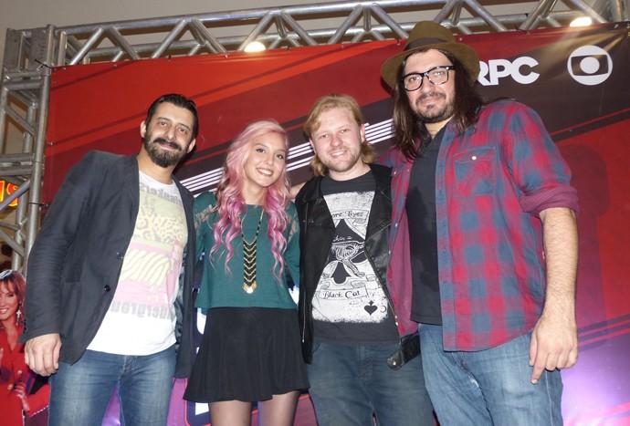 Aline Mendes e Rodrigo Castellani The Voice Pocket (Foto: Divulgação/ RPC)