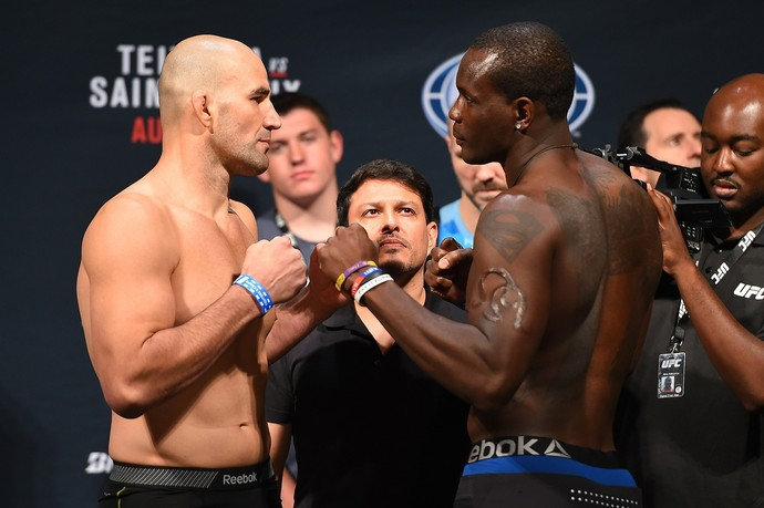 Glover Teixeira Ovince St-Preux encarada pesagem UFC Nashville (Foto: Getty Images)