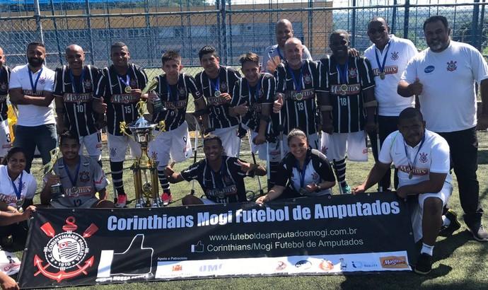 Corinthians/Mogi campeão Copa do Brasil futebol de amputados (Foto: Divulgação)