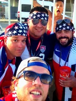 Torcida Gana x EUA (Foto: Dave Leboff / Arquivo Pessoal)
