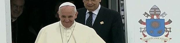 AO VIVO: Papa já está no Rio de Janeiro (Reprodução)