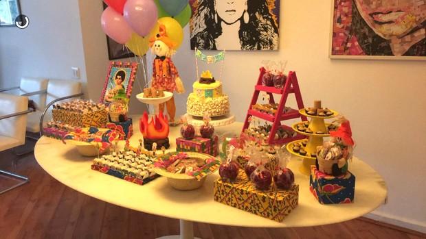 Decoração da festa de 7 meses de Sol de Maria, neta de Preta Gil (Foto: Reprodução / Snapchat)