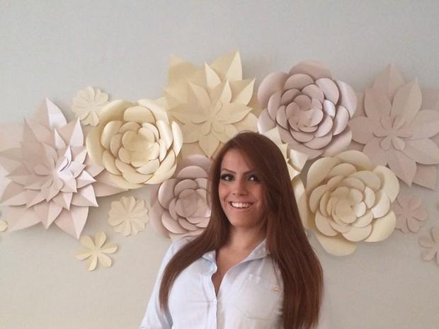 Flavia Martins criou uma empresa de peças de decoração com papel (Foto: Flavia Martins/Arquivo Pessoal)