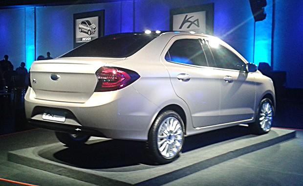 Ford Ka Sedan é revelado como conceito em São Paulo (Foto: Tereza Consiglio/Autoesporte)
