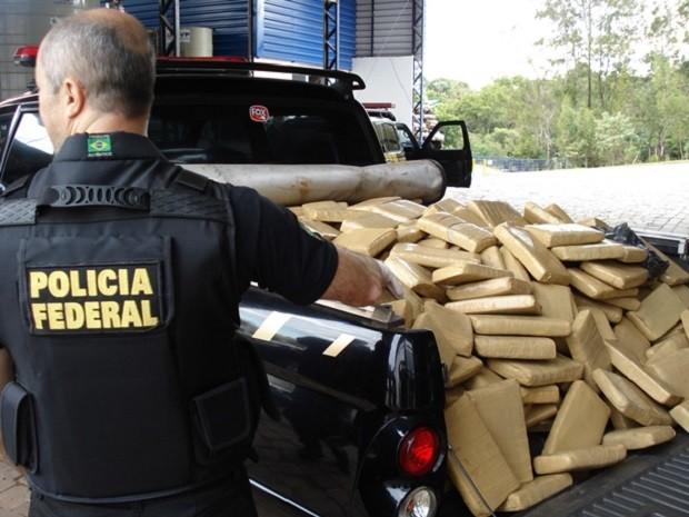 Polícia Federal incinerou drogas apreendidas no Norte do estado (Foto: Polícia Federal/Divulgação)