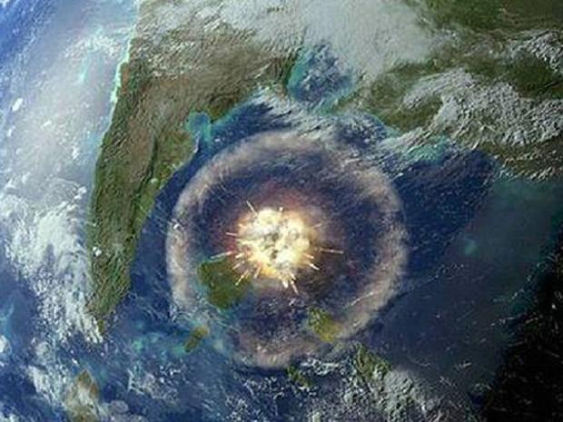 Simulação mostra impacto de meteoro responsável pela extinção da vida na Terra há 66 milhões de anos (Foto: Divulgação)