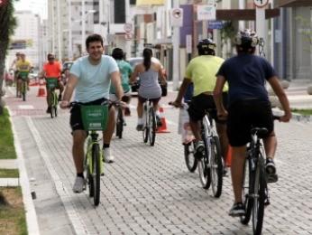 Fortaleza terá um total de 300 bicicletas compartilhadas (Foto: Prefeitura de Fortaleza/Divulgação)