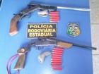 PRE prende dupla armada para caçar animais silvestres em Vilhena, RO