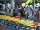 Placa de loja cai e deixa criança ferida no Centro de João Pessoa