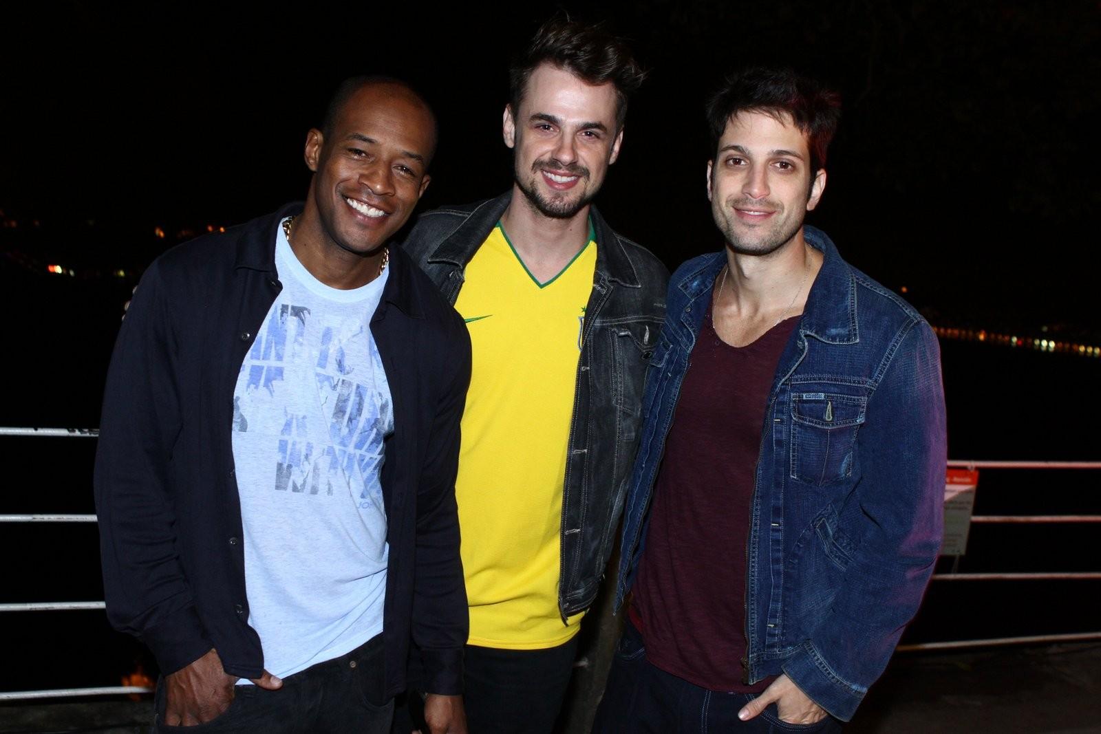 Lui Mendes, Daniel Erthal e Marco Antônio Gimenez (Foto: RAPHAEL MESQUITA / DIVULGAÇÃO)