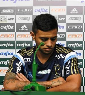 Cleiton Xavier coletiva Palmeiras (Foto: Tossiro Neto)