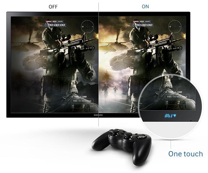 Presença de modos para jogos pode amenizar deficiências de monitores mais simples (Foto: Divulgação/Samsung)