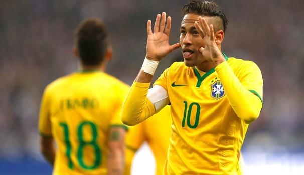 Neymar marcou o gol da virada sobre a França no Stade de France (Foto: Reprodução Globoesporte) (Foto: Reprodução globoesporte.com)