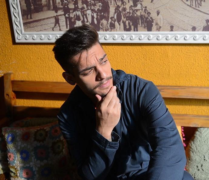 Lucas Lucco acredita que Uood escolha Alina (Foto: Pedro Carrilho/Gshow)