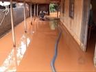 Cheia de rio deixa estragos e famílias desabrigadas em Fátima do Sul
