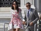 Após casamento, Clooney e Alamuddin almoçam em família