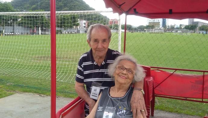 Dona Lourdes e Seo Esmeraldo - Santos (Foto: Arquivo Pessoal)